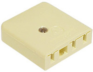 Access Communications 610 TELEPHONE WALL SOCKET IVORY