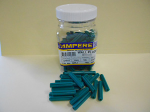 Ampere Electrical WALL PLUGS IN JAR GREEN 35MMX12G(PK100)