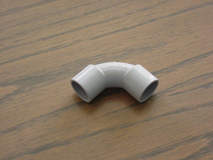 Aussie Duct SOLID ELBOW 25MM GREY
