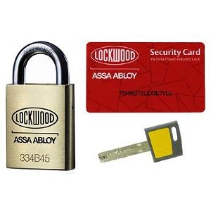 LockwoodLOCK PI2 KEYED TO DIFFER 1 KEY & 1 CARD
