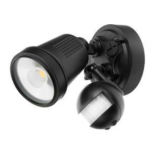 Brilliant LightingHUNTER III LED SINGLE 11W BK C/W SENSOR
