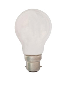 CLA LAMP HALOGEN E/S INCAN 53W BC FROSTED