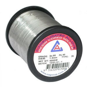 Consolidated AlloysRESIN CORE SOLDER 60/40 1.6X500G 1101500