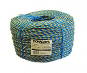 Donaghys ROPE TELSTRA 6MMX400MT COIL BLUE/YELLOW