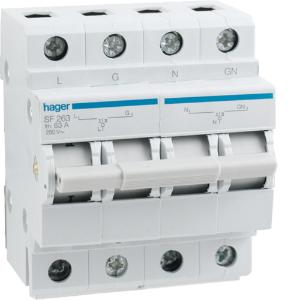 Hager CHANGEOVER SWITCH 63A 2 POLE