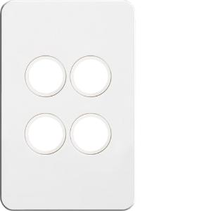 Hager SWITCH PLATE; COVER; NO MECH 4G