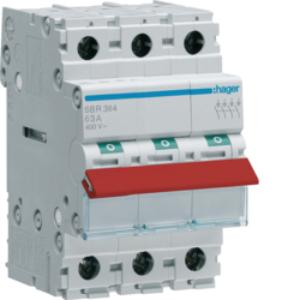 Hager ISOLATOR 3P 63A RED TOGGLE