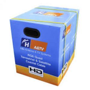 HillsCABLE RG6 QUAD FTA REEL IN BOX 305M
