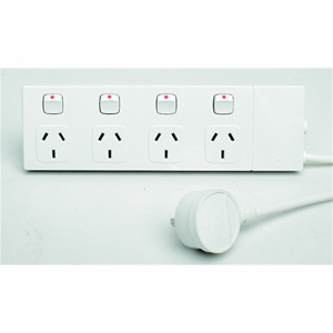 HPM Industries POWERBOARD SLIMLINE 4 OUTLET & SWITCHED
