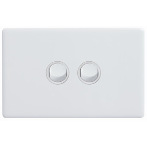 Legrand Electricals SWITCH 2 GANG HORIZ 16A 250V WH