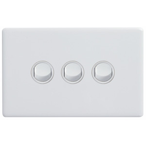 Legrand Electricals SWITCH 3 GANG HORIZ 16A 250V WH