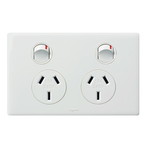 Legrand ElectricalsE-DED 10A 2-GANG POWERPOINT WHITE