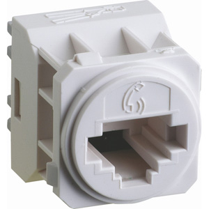 Legrand ElectricalsE-MEC CAT-3 RJ11 VOICE-SOCKET WHITE