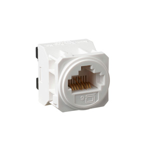 Legrand Electricals E-MEC CAT-6 RJ45 DATA-SOCKET WHITE