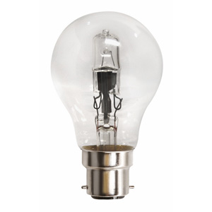 Nelson LampsLAMP HALOGEN 42W BC E GLS CLEAR