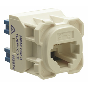 HPM Industries COMM SOCKET CAT3 RJ11 6P4C CLQ