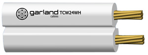 Garland CABLE FIG 8 SPEAKER WIRE 2X24/0.2 WHITE