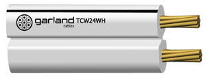 GarlandCABLE FIG 8 SPEAKER WIRE 2X 24/0.2 WH/BK
