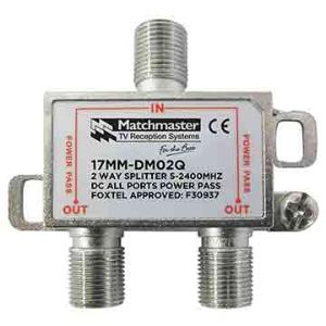 Match Master SPLITTER 2 WAY FOR TDT SYSTEMS