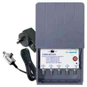 Match MasterAMP UHF 4 INPUT 15;24;34DB SWITCHABLE