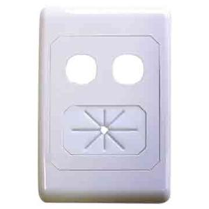 Match Master A-CLASS OUTLET PLATE - CABLE MANAG.+2WAY