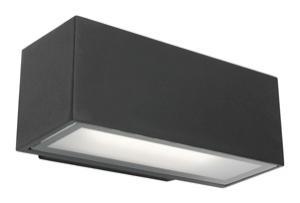 Mercator ClipperCLUNY LED EXT WALL LIGHT 12W BLACK