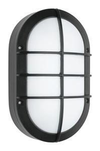 Mercator ClipperFELIX LED EXT WALL LT 6W OVAL GRILL BLK