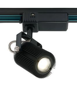Mercator ClipperMAST LED TRACK SPOT HEAD 1LT 10W BK 4K