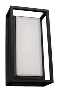 Mercator ClipperCAYMAN LED EXTERIOR WALL LIGHT 12W BLACK