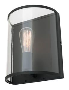 Mercator Clipper LIVERPOOL WALL LIGHT BLACK/CLEAR