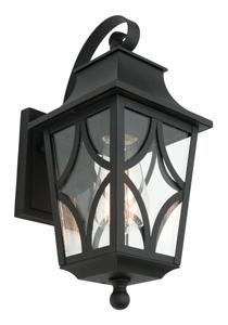 Mercator Clipper MAINE Ext. WALL LIGHT IP44 BLACK