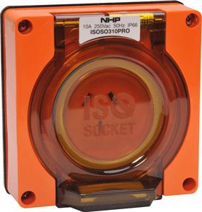 Kat SOCKET 10A250V ORANGE NO B/BOX