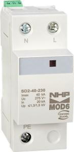 NHPSURGE DIVERTER MOD6 1P+N 40KA