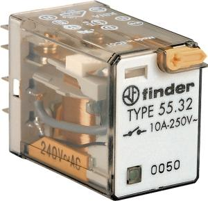 Rele Finder RELAY PLUG IN 10A 240VAC 2CO WITH LED