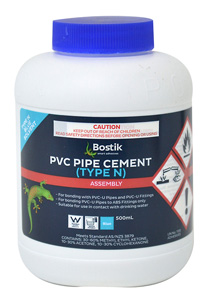 BostikPIPE CEMENT PVC TYPE N CLEAR 500ML