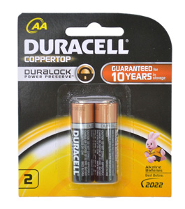 Duracell BATTERY 1.5V AA SIZE TWIN PACK