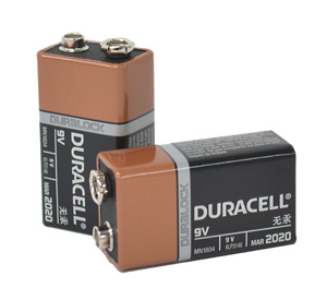 Duracell BATTERY 9V SIZE (BULK PACK)