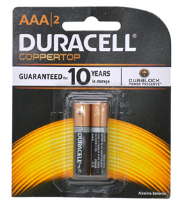 Duracell BATTERY 1.5V AAA SIZE TWIN PACK