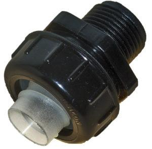 Ramflex Conduit Systems CONDUIT FITTING ISO ST. 20MM BLACK