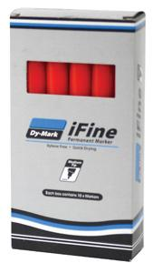 DYMARK MARKER PEN IFINE INK RED