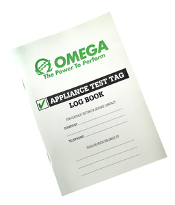 Omega LOG BOOK FOR APPLIANCE TEST TAGS