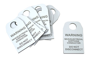 Omega EARTHING CONDUCTOR TAG
