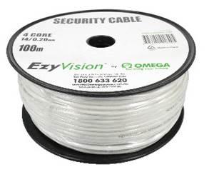 Omega CABLE SECURITY 4 CORE 14/020 100M WH RL