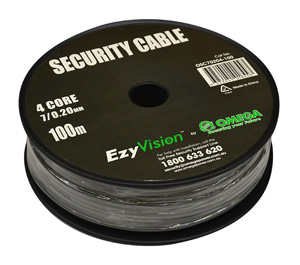 Omega CABLE SECURITY 4 CORE 7/0.20 100M GRY RL