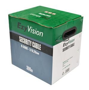 OmegaCABLE SECURITY 6 CORE 7/0.20 300M GRY RL