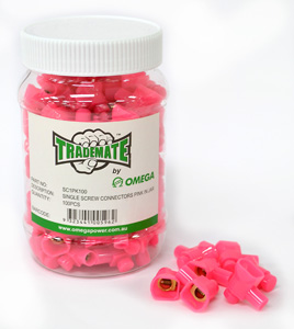 OmegaCABLE CONNECTORS SINGLE SCREW PINK