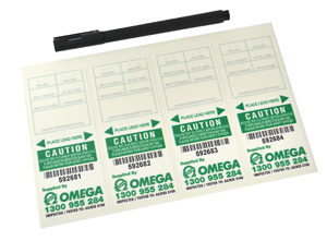 Omega TEST TAGS SELF LAMINATED GREEN MAR-MAY