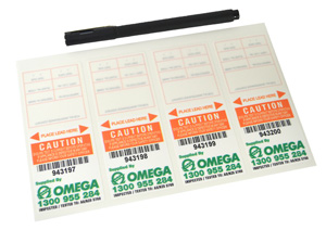 Omega TEST TAGS SELF LAMINATED ORANGE JAN-JUNE