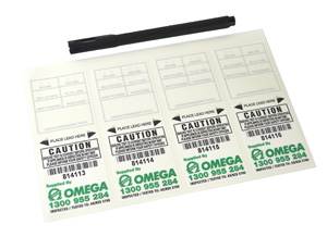 Omega TEST TAGS SELF LAMINATED WHITE JUL-DEC