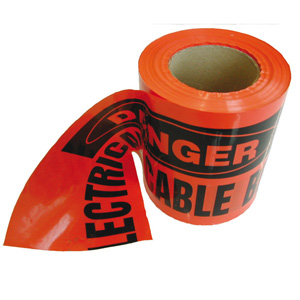 OmegaUNDERGROUND WARNING TAPE (100MT COIL)